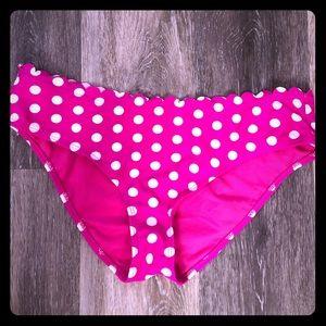Bongo Pink & White Polka Dot swim bikini bottom M